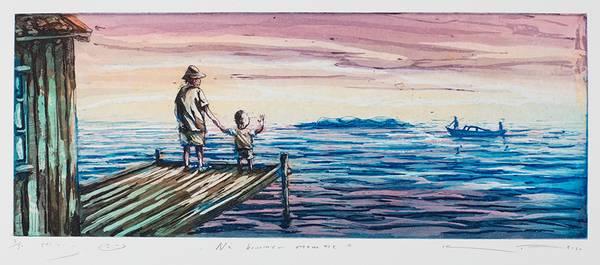 Bilde av Kristian Finborud - Nå kommer Mamma inkl. ramme