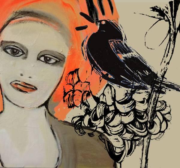 Bilde av May Lise Hoel - Woman And Bird  60x54,5.